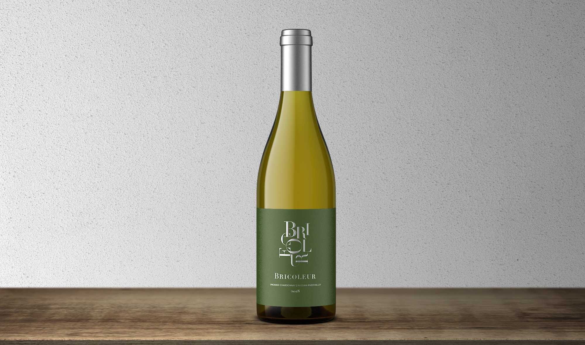 2019 Estate Unoaked Chardonnay bottle